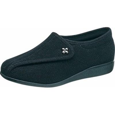 asahi shoes(アサヒシューズ) 快歩主義 介護靴 KHS L011 左足 片足販売 C265【ブラックパイル】 レディース KS21362LT