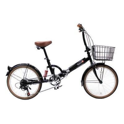 TOP ONE FS206LL-37-BK ブラック [折りたたみ自転車(20インチ・6段変速)] 折りたたみ自転車・ミニベロ