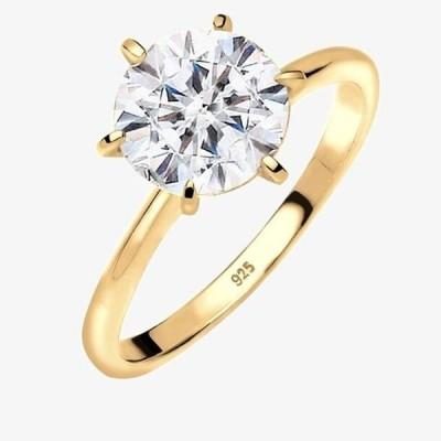 エリ レディース 指輪 VERLOBUNG ELEGANT - Ring - gold-coloured/white