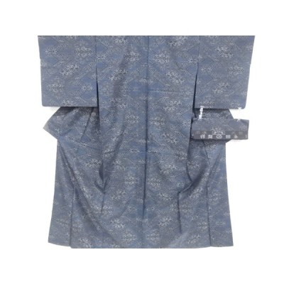 リサイクル 花更紗模様織り出し本場泥大島紬着物