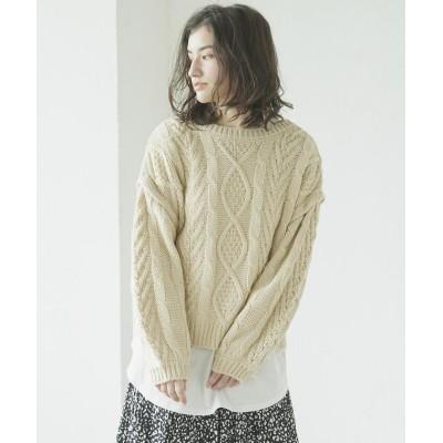(LIPSTAR/リップスター)【セット商品】バックレース2WAY&ロングTシャツ/レディース オフホワイト