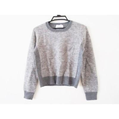 ベイジ BEIGE 長袖セーター サイズ4 XL レディース 美品 グレー×ダークグレー【中古】20200108