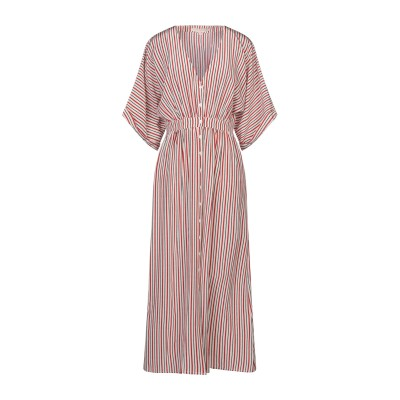 VANESSA BRUNO ロングワンピース&ドレス アイボリー 38 シルク 100% ロングワンピース&ドレス