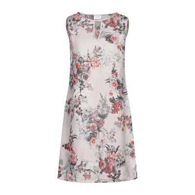 LFDL ミニワンピース&ドレス グレー S リネン 100% ミニワンピース&ドレス