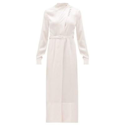 ガブリエラ ハースト Gabriela Hearst レディース ワンピース ワンピース・ドレス Josefina high-neck hammered silk-satin dress Light pink