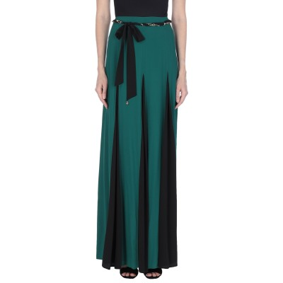 クラス ロベルト カヴァリ CAVALLI CLASS ロングスカート グリーン 40 アセテート 63% / シルク 37% ロングスカート