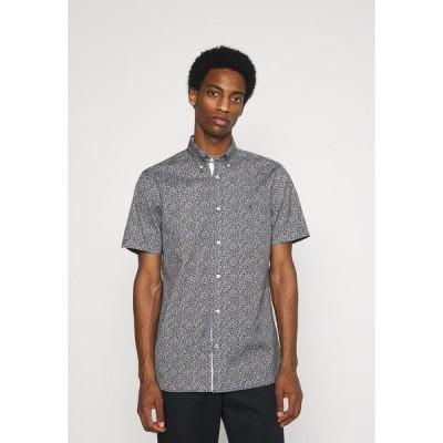トミー ヒルフィガー シャツ メンズ トップス SOFT MINI FLORAL PRINT - Shirt - black/white /lumen flash