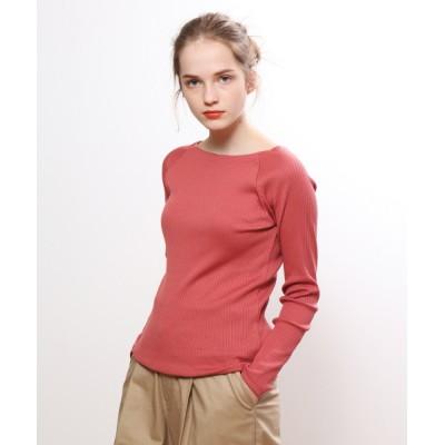 collex / ワイドリブプルオーバー WOMEN トップス > Tシャツ/カットソー