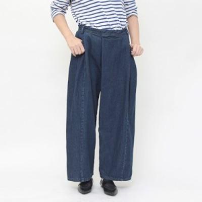 【 タックデニムパンツ 】Gnals ジーナルズ デニム タック バギー パンツ ゆったり 大人 カジュアル デザイン レディース  All item pant