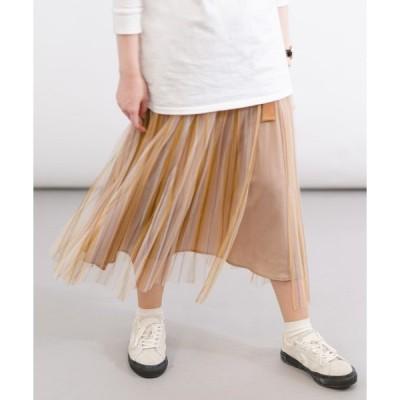 スカート 【wordtrobe】チュールレーススカート(ストライプ/ダルメシアン/ドット)