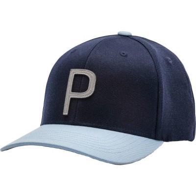 プーマ 帽子 アクセサリー メンズ PUMA Men's Throwback P 110 Snapback Golf Hat BlueBell