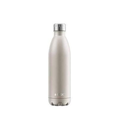 FLSK フラスク 水筒 真空断熱 ステンレスボトル 魔法瓶 炭酸 OK (750ml, シャンパン)