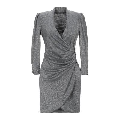 SOALLURE ミニワンピース&ドレス シルバー 42 ポリエステル 65% / ナイロン 30% / ポリウレタン 5% ミニワンピース&ドレス