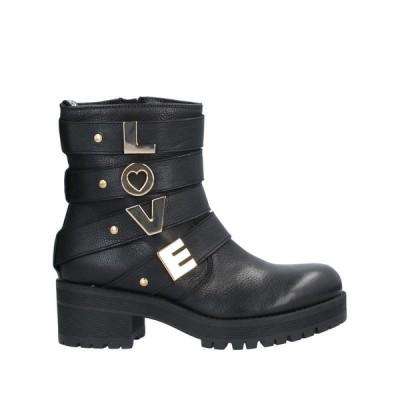 LOVE MOSCHINO ショートブーツ  レディースファッション  レディースシューズ  ブーツ  その他ブーツ ブラック