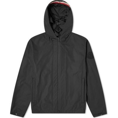 モンクレール Moncler メンズ ジャケット ウィンドブレーカー アウター carles tricolore band logo hooded windbreaker Black