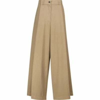 ドリス ヴァン ノッテン Dries Van Noten レディース ボトムス・パンツ ワイドパンツ High-rise wide cotton-poplin pants Sand
