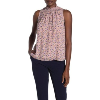 レベッカテイラー レディース カットソー トップス Zelma Smocked Floral Silk Blend Top NUDE COMBO