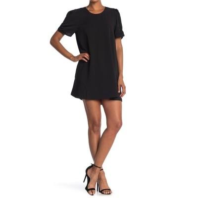 ハイファイブ レディース ワンピース トップス Short Puff Sleeve Tunic Dress BLACK