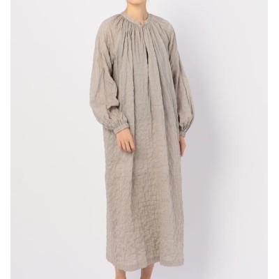 【ビショップ/Bshop】 【nicholson and nicholson】ギャザーシャツドレス STRIPE WOMEN
