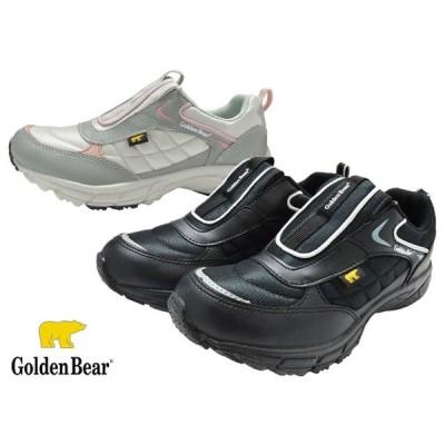 ゴールデンベアー Golden Bear GB-326 スニーカー スリッポン レディース 婦人 3E ブラック グレー 靴