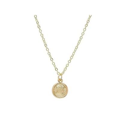 【新品】Pori Jewelers 14K ゴールド 小さな円 ディスク ことわざペンダント 14K ゴールド DCケーブルチェーンネックレス 18インチ
