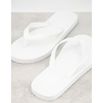 トリュフコレクション メンズ サンダル シューズ Truffle Collection flip flops in white