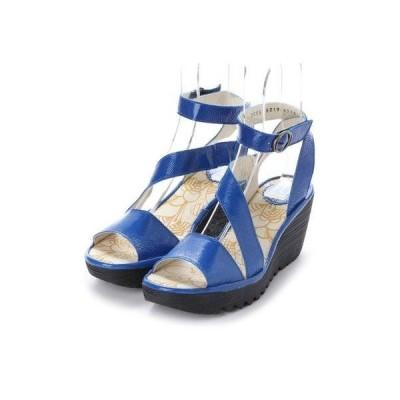 ヨーロッパコンフォートシューズ EU Comfort Shoes FLYLONDON サンダルパンプス(500.526) (ブルー)