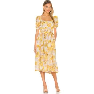 フォーラブアンドレモン For Love & Lemons レディース ワンピース ミドル丈 ワンピース・ドレス Zinna Midi Dress Lemonade