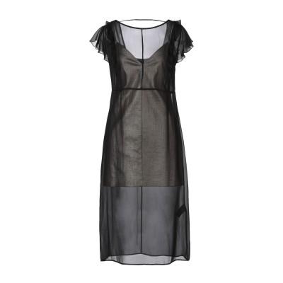 パトリティア ペペ セーラ PATRIZIA PEPE SERA 7分丈ワンピース・ドレス ブラック 42 シルク 100% / コットン / ポリ