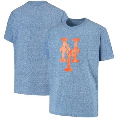 キッズ スポーツリーグ メジャーリーグ New York Mets Stitches Youth Snow T-Shirt - Heathered Royal Tシャツ