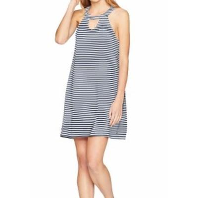 Roxy ロキシー ファッション ドレス Roxy NEW White Blue Womens Size XS Striped Keyhole T-Shirt Dress