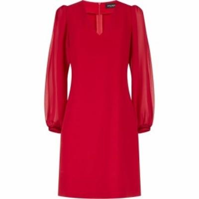 ジュームズ レイクランド James Lakeland レディース ワンピース Vネック ワンピース・ドレス Puff Sleeve Dress V-Neck Red
