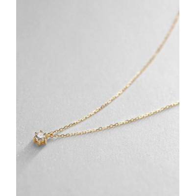 COCOSHNIK(ココシュニック) K18ダイヤモンド 6本爪 ネックレス