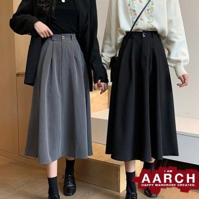 大きいサイズ スカート レディース ファッション ぽっちゃり おおきいサイズ あり ミモレ丈 タック フレア 楽ちんウエストゴム L LL 3L 4L 5L 秋冬