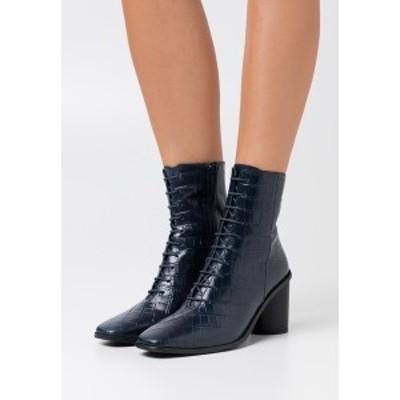 ジン レディース ブーツ&レインブーツ シューズ High heeled ankle boots - dark blue dark blue