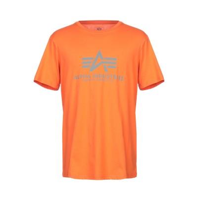 ALPHA INDUSTRIES T シャツ オレンジ M コットン 100% T シャツ