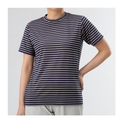 ミズノ ドライベクターボーダー半袖Tシャツ[レディース] 13&nbspパトリオットブルー(b2ma022813)