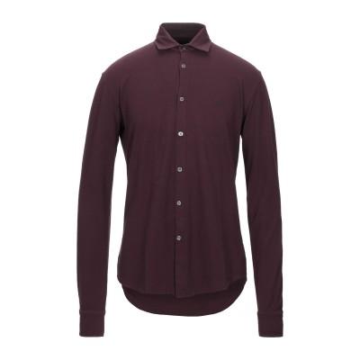 ブルックスフィールド BROOKSFIELD シャツ ディープパープル 50 コットン 100% シャツ