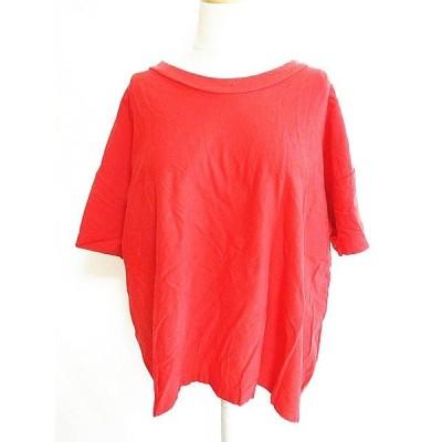 【中古】アールエヌエー RNA カットソー 半袖 コットン Tシャツ 赤 M レディース 【ベクトル 古着】