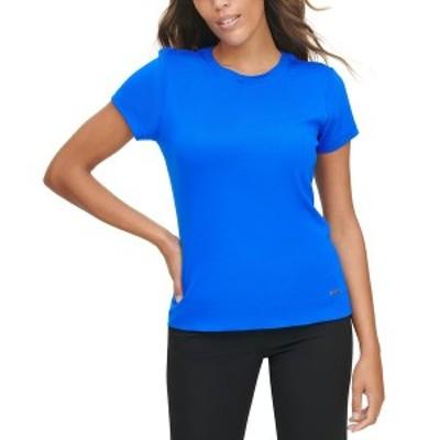 カルバンクライン レディース Tシャツ トップス Cotton Crewneck T-Shirt Blue