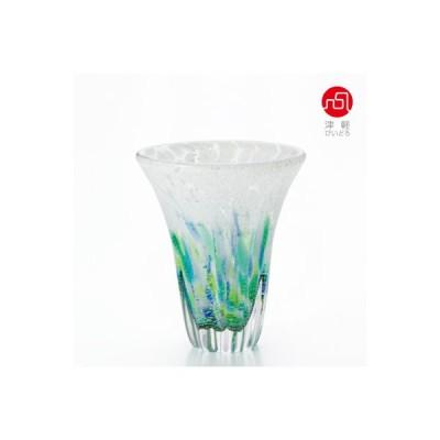 石塚硝子 ISHIZUKA GLASS アデリアグラス ADERIA GLASS 津軽びいどろ 紫陽花 天開花器小 F71743 花瓶
