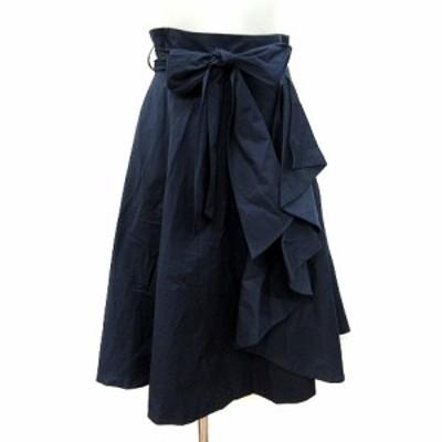【中古】トランテアン ソン ドゥ モード 31 Sons de mode フレアスカート ミモレ ロング 36 紺 ネイビー レディース