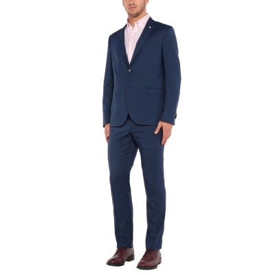 マニュエル リッツ MANUEL RITZ スーツ ブルー 54 ポリエステル 87% / レーヨン 10% / ポリウレタン 3% スーツ