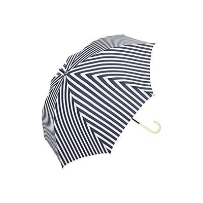 中谷-傘 完全遮光 長傘 50cm 手開き 晴雨兼用 遮光100% 遮蔽99% UVカット UPF50+ ネイビー