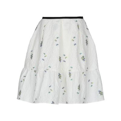アーデム ERDEM ひざ丈スカート ホワイト 10 コットン 90% / ポリイミド 7% / ポリエステル 3% ひざ丈スカート