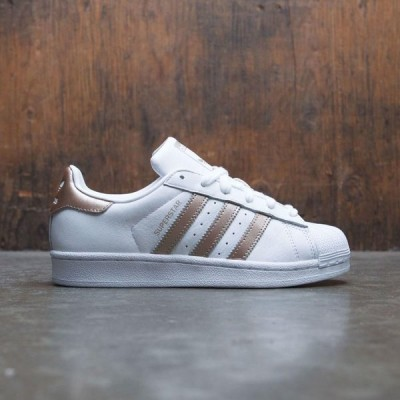 アディダス Adidas レディース スニーカー シューズ・靴 Superstar W white / cyber metallic gold / footwear white