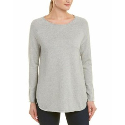 IN Cashmere インカシミア ファッション トップス In Cashmere Womens Incashmere Boat Neck Cashmere-Blend Pullover Xl Grey