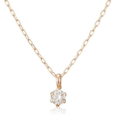 [ディーコレクション] ダイヤモンド 0.1ct K18 ネックレス DS20095PG ピンクゴールド