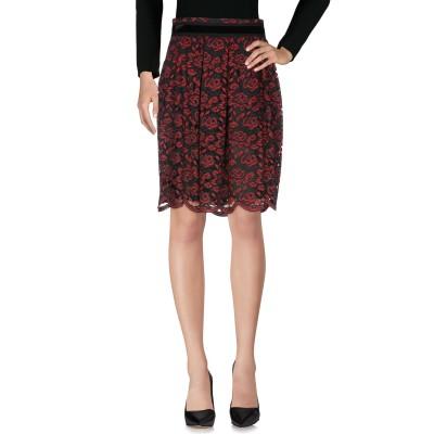MARIA GRAZIA SEVERI ひざ丈スカート ボルドー 40 ナイロン 65% / コットン 35% ひざ丈スカート