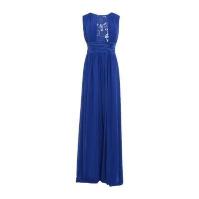 SOANI ロングワンピース&ドレス ブルー 48 ポリエステル 100% ロングワンピース&ドレス